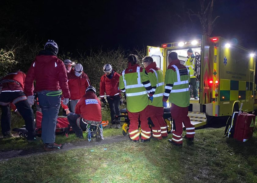 The farmer is said to be in a serious but stable condition (Photo: Aberglaslyn Mountains Rescue)