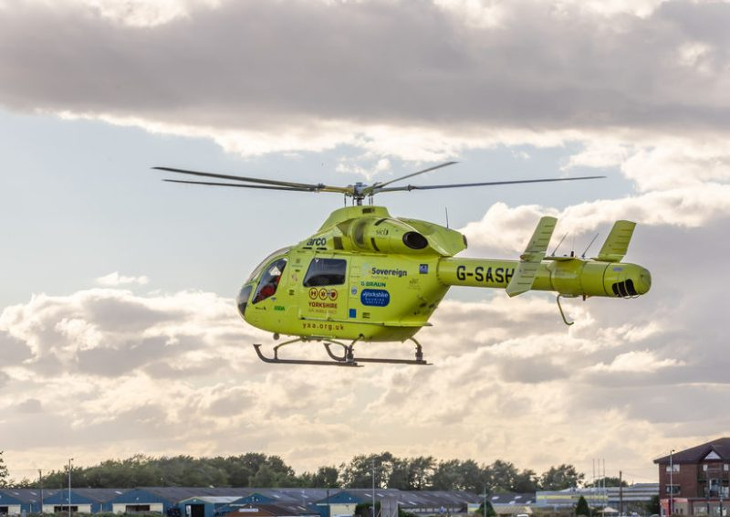 The farmer was airlifted to hospital by Yorkshire Air Ambulance following the accident