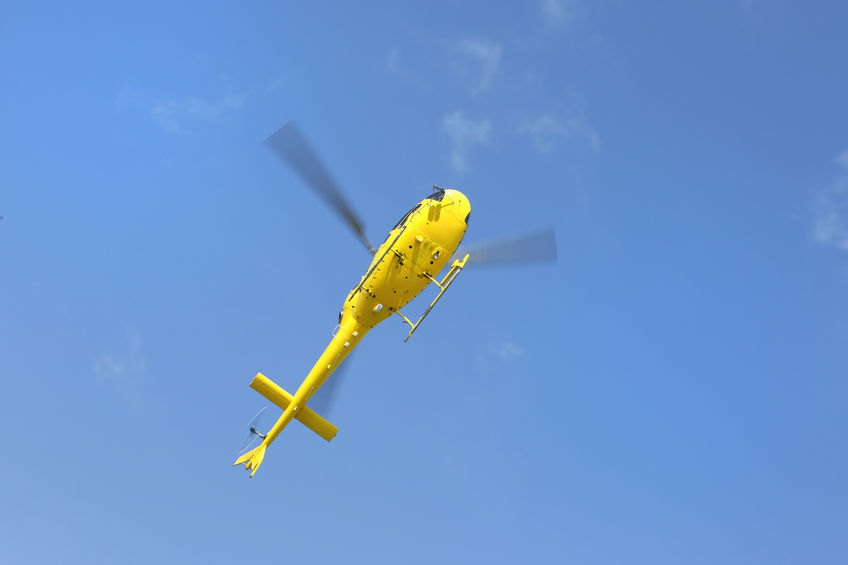 Emergency services, including a coastguard helicopter, was called to the farm