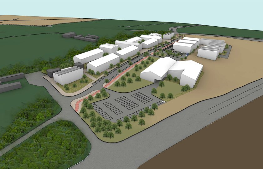 An early concept drawing for SRUC's expanded Aberdeen Campus