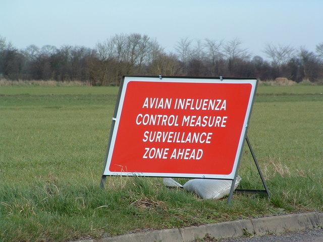 (Photo: Keith Evans/Avian Influenza Sign/CC BY-SA 2.0)