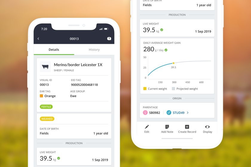 The app digitises record keeping and provides actionable insights from farm data