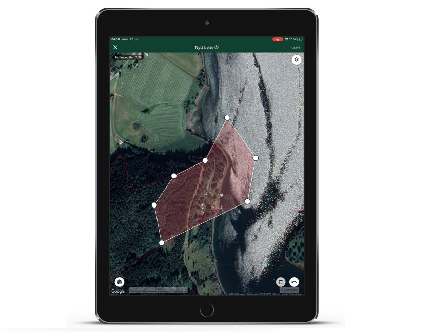 To operate the system, farmers use a mobile app set out specific virtual boundaries