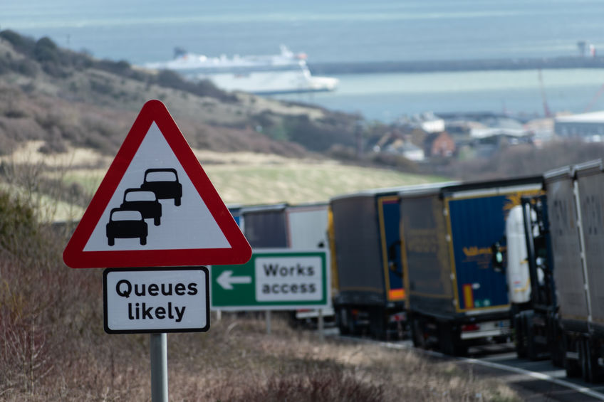 All outbound traffic from Dover has been stopped for 48 hours