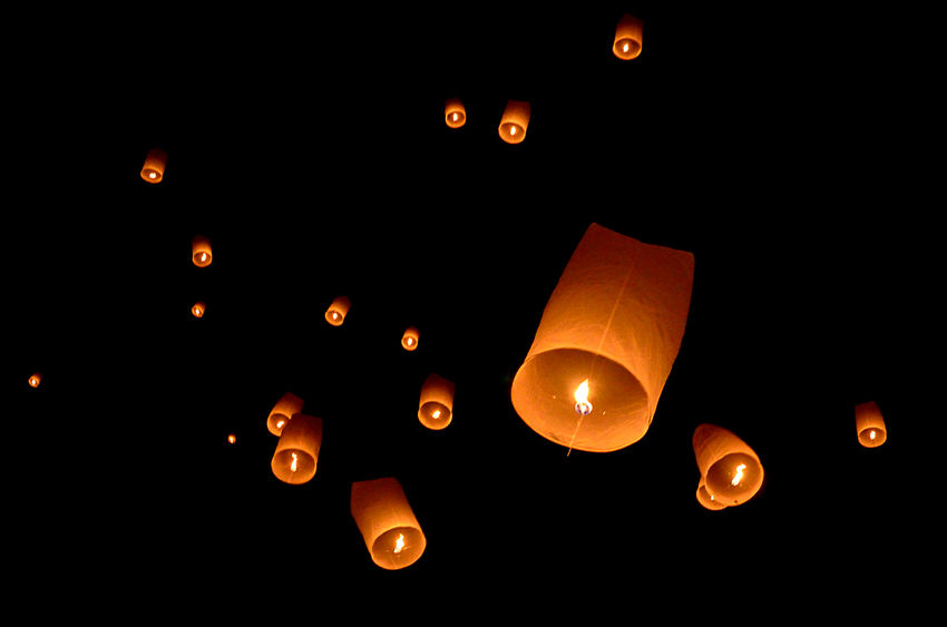 The NFU is seeking a total ban on sky lanterns to 'safeguard property and animals'