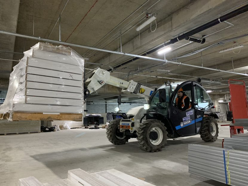 In 2019 Faresin became the first company to develop an electric telehandler