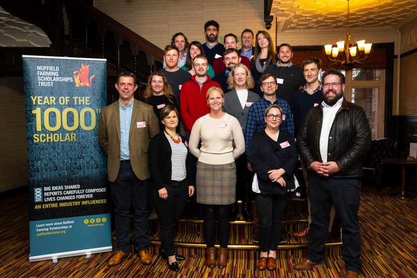 Around 20 Nuffield Farming Scholarships are awarded each year (Photo: Nuffield's 2020 Scholars)