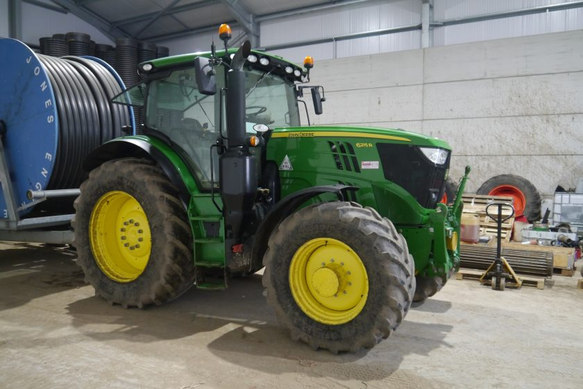 Tractors for sale include a 2017 John Deere 6215R