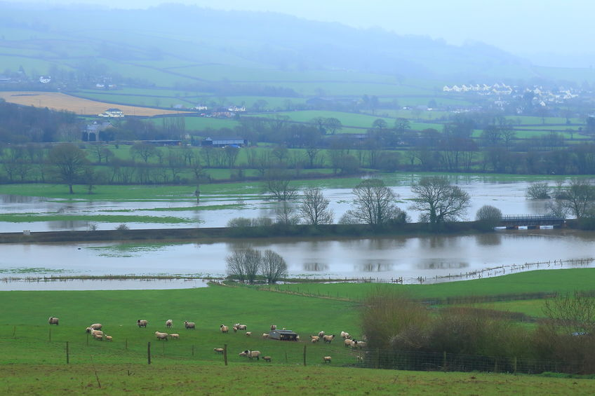 The Met Office warned heavy rain with melting snow could cause flooding