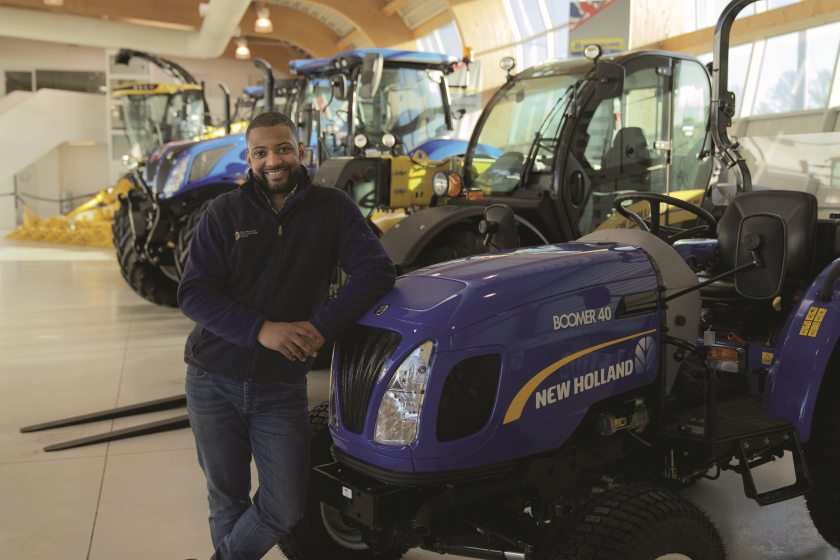 There are three different New Holland machines available to loan for free for one year