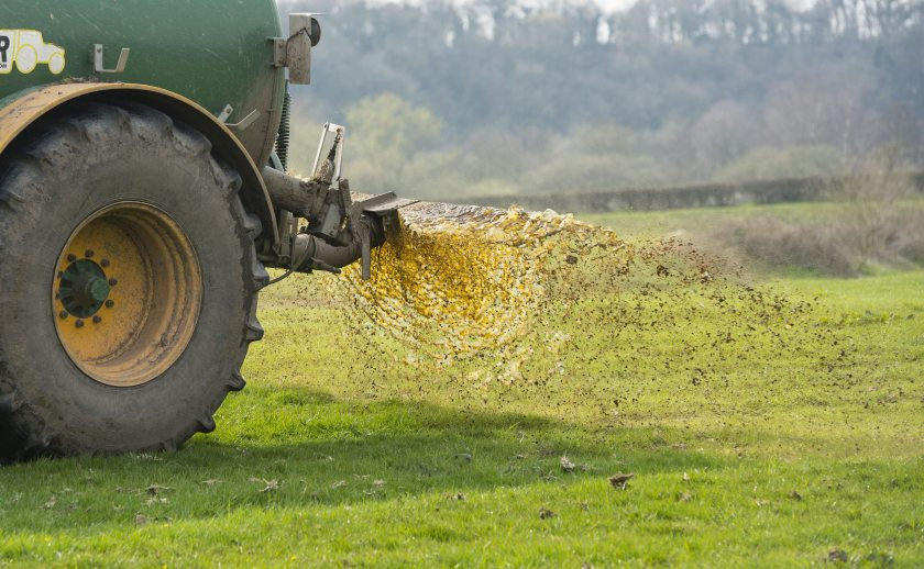 Slurrying should only be carried out if ground conditions are suitable, the UFU warns