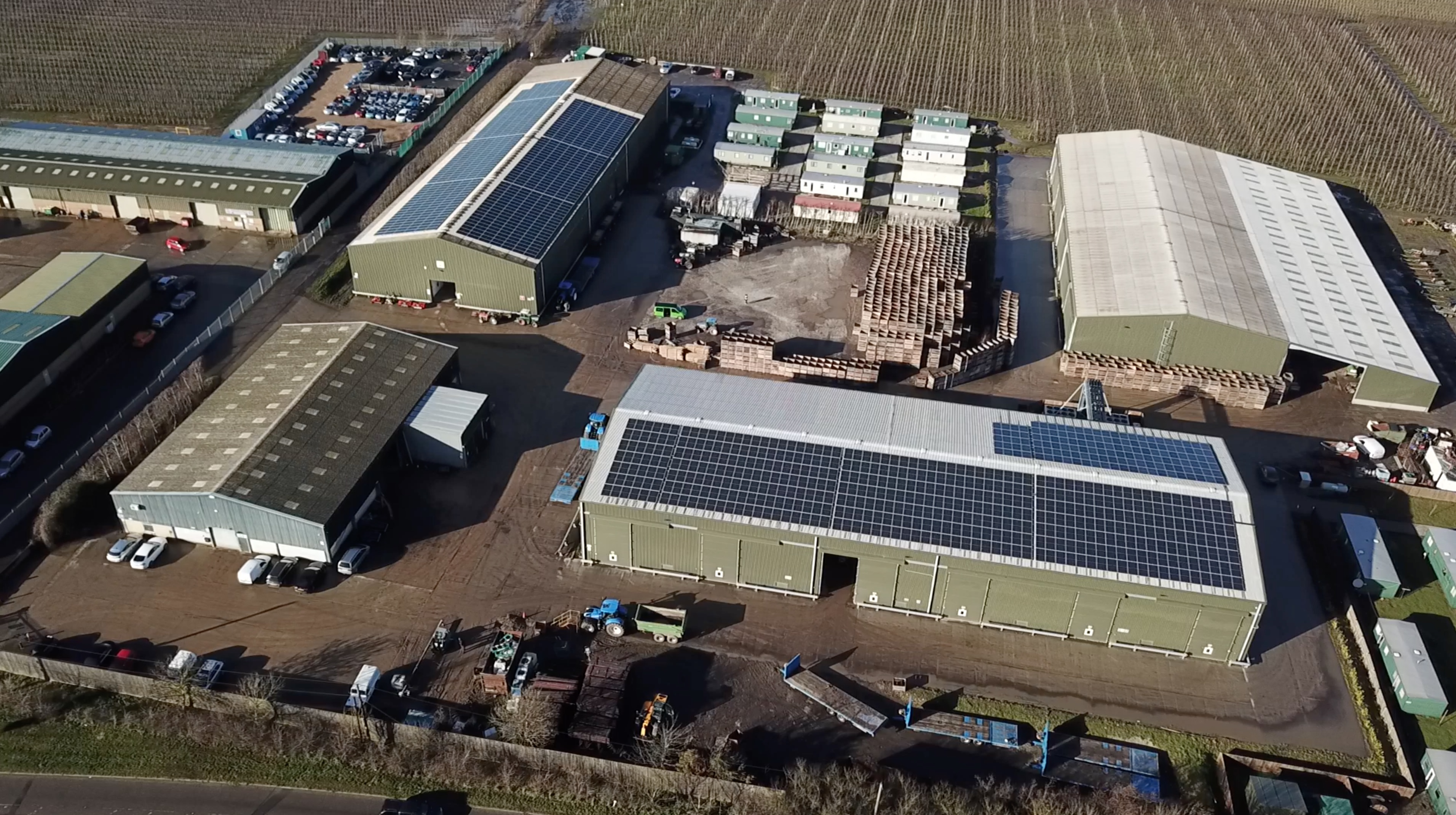 The new solar array will provide all of the power for the packing and cold storage operations