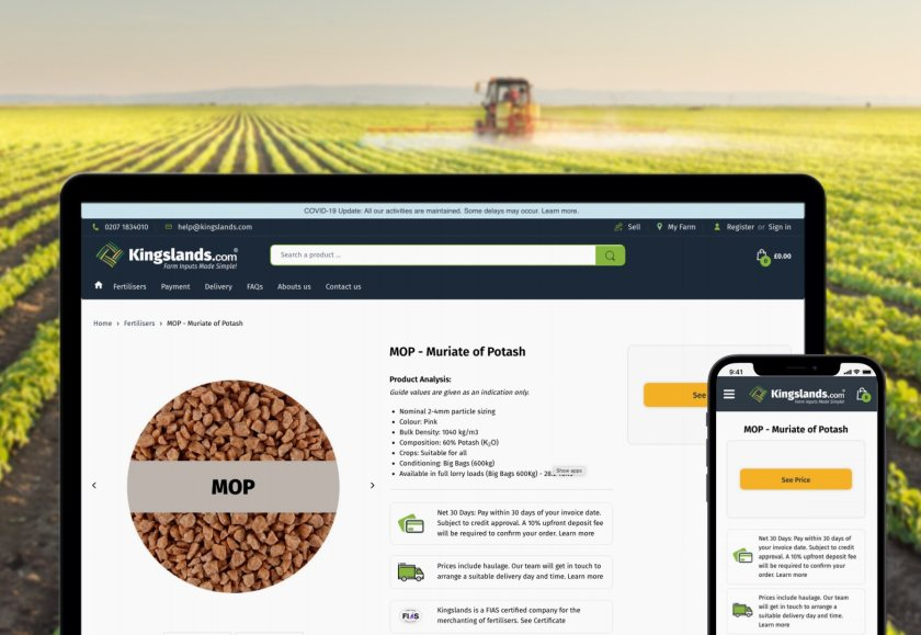 The online platform aims to help farmers source fertilisers at favourable prices