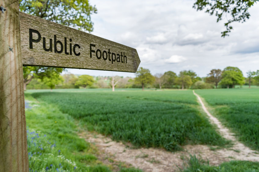 Responsibility for public rights of way is shared between the landowner and the highways authority