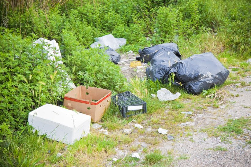 Fly-tipping incidents on private land are likely to be far greater
