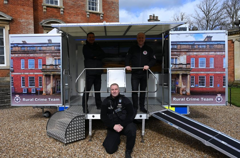 The purpose-built trailer was designed to be visible and accessible to farming communities