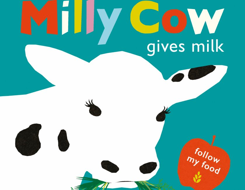 The first children's book in the series 'Milly Cow Gives Milk' explores milk production