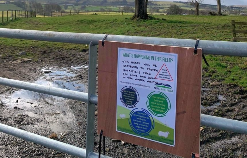The free posters ask the public to 'enjoy responsible access'