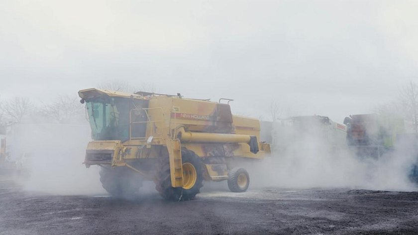 Combine fires can be reduced or prevented altogether by suppression systems