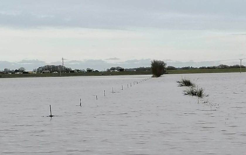 Recent flooding at Lakes Farm, Scarborough. Local farmers have asked for more funds to deal with the issue