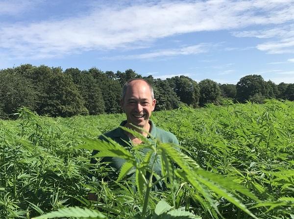 John Barrett, director of Norfolk-based Sentry Farms, recently started cultivating Cannabis sativa for hemp fibres