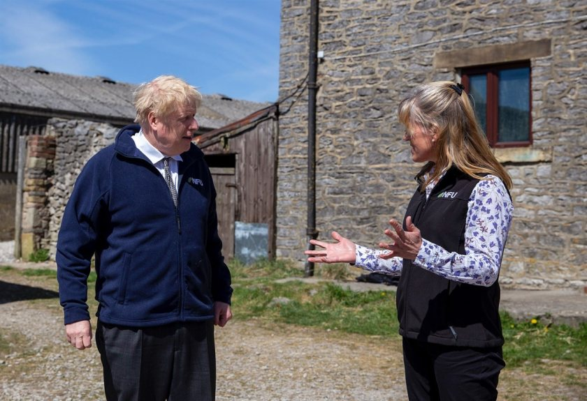The Prime Minister met with NFU President Minette Batters on a Derbyshire farm on Friday
