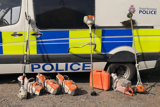 During police searches on the farm, around £50,000 worth of farm machinery was seized