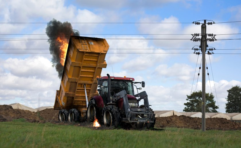 Figures for 2020 show that 18% of overhead line incidents were through farming