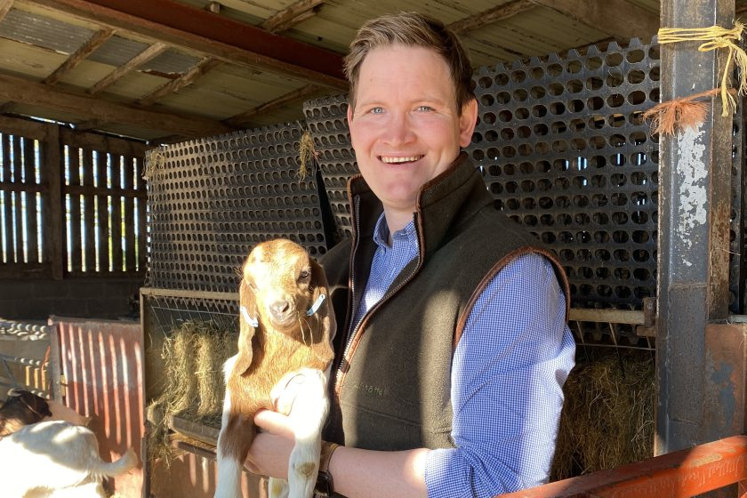 Chris Dickinson believes goatmeat is only going to become a more common choice for UK consumers