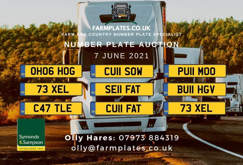 The website sells number plates with farming or rural themes (Photo: Farmplates.co.uk)