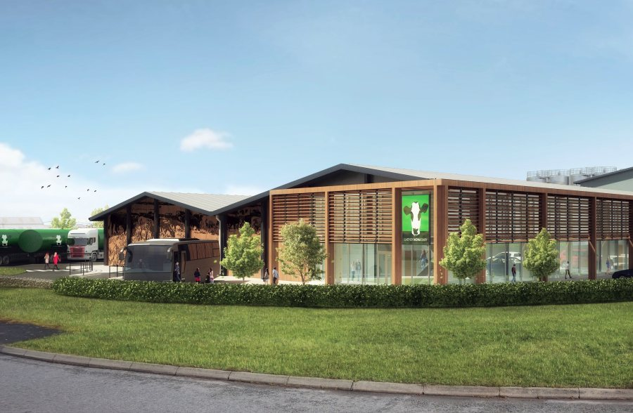 The environmentally-friendly factory will support production of Welsh and continental cheeses